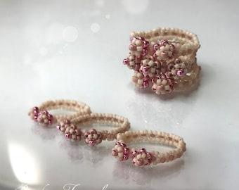 Tiny Flower Ring beading tutorial