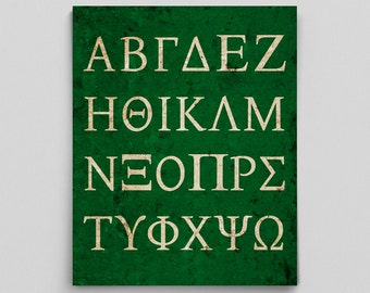 Greek Alphabet Print Science Math Gift Sorority Gift Fraternity Gift Science Teacher Gifts for Teachers Science Art Typographic Print Gifts