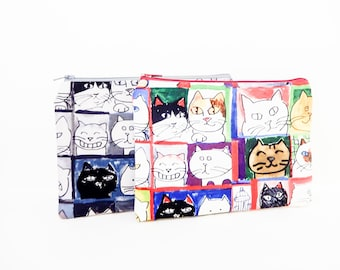 Make Up Bag/ Mothers Day Gift/ Cat Gift for Her/ Gift for Wife/ Sister Gift/ Birthday Gift/ Cat Lover Gift/ Pouch/ Cat Lover Gift/ Cat Gift