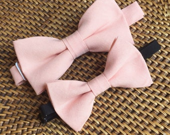 Father Son Bow Tie Set, Father Som Pink Bow Tie Set, Daddy Son Ties- So Sweet!