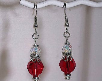 Swarovski Crystal Bridal Earrings - MADE TO ORDER in Any Color - French Wires, Leverbacks or Posts