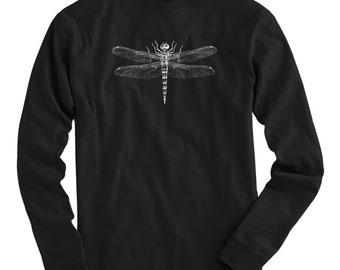 Dragonfly Tee - Long Sleeve T-shirt - Men S M L XL 2x 3x 4x - Insect Shirt, Bug Shirt, Anisoptera Shirt, Entomology Shirt, Dragonfly Gift