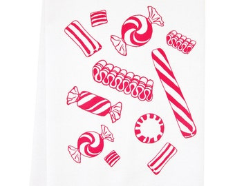 NEW candy organic tea towel