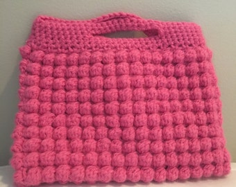 crocheted purse