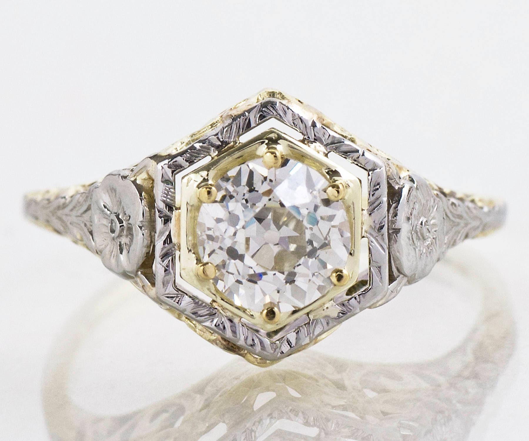 Antique Engagement Ring Antique Arts & Crafts Era Butterfly