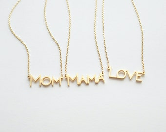 Mom Necklace / Mama Necklace / Love Necklace / Gifts for Moms / Mother's Day Gifts / Mothers Jewelry - RTSF143