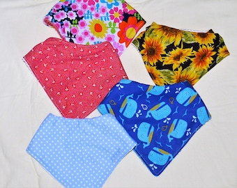 Set of 3 baby bibs for 18.50, baby bandana bibs, bandana bibs, dribble bib, drool bib, baby gift, baby shower gift