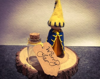 Anxiety Tool for Children - Wooden Peg doll - handmade