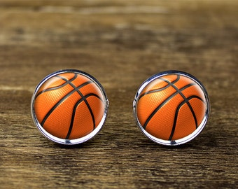Basketball cufflinks, Basketball jewelry, Basketball accessories