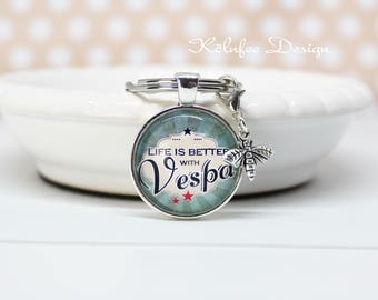 Vespa Key ring/gift for him/scooter/motor Scooter Keychain/Vespa Keychain/gift for Vespa