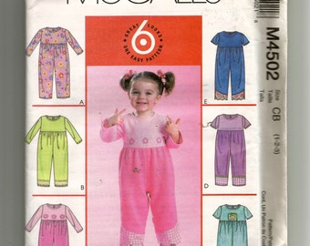 McCall's Toddlers' Jumpsuit Pattern 4502