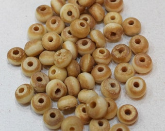 Beads Bone Dyed Small Rondelles Vintage Beads 8mm