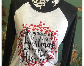 Magic of Christmas Raglan Tee