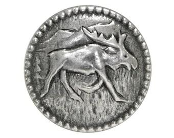 12 Moosey Moose 3/4 inch ( 20 mm ) Metal Buttons