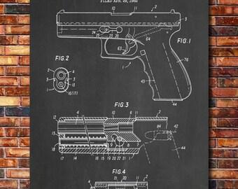 Glock Patent Print Art 1985