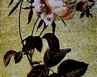 Lonely Flower in the Autumn Glass Mosaic Mural