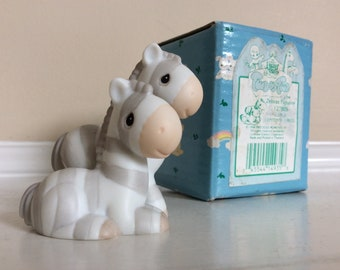 "The Precious Moments ""Two By Two"" small Zebras figurine #127809 Enesco."