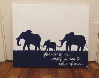 custom 16x20 canvas | hand-painted calligraphy | quote art | painted wall art | custom painting | medium canvas | home decor | custom art