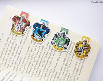 Hogwarts House Magnetic Bookmarks