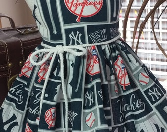 NY Yankees dress fits 18 inch dolls including American Girl Dolls