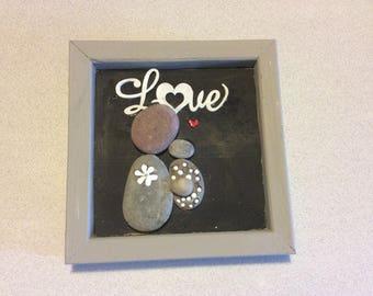 Stone art new baby