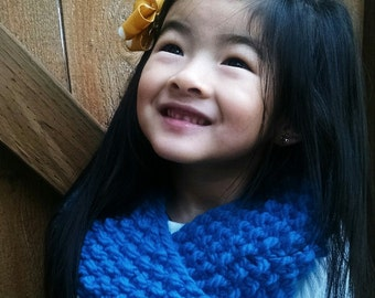 Hand-knit Children's Infinity Scarf