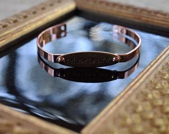 Refuse to Sink Rose Gold Bracelet