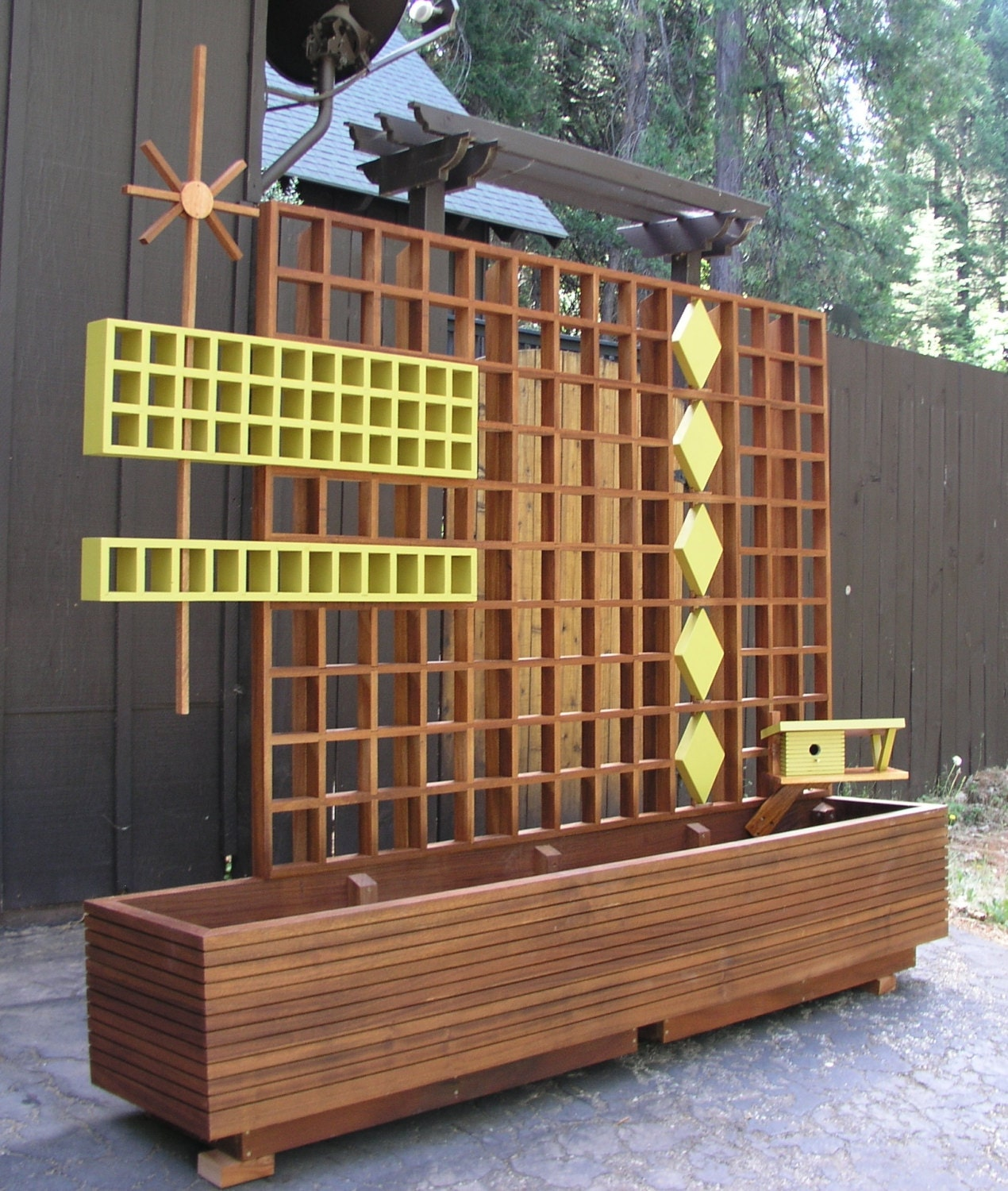Mid Century Modern Marque Privacy Screen or Trellis 95.00 a