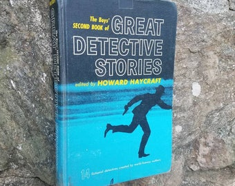 1940's Boys' Great Detective Stories- Vintage Action/Adventure/Mystery Books- Howard Haycraft- Agatha Christie/Bentely/Famous Authors- Gift