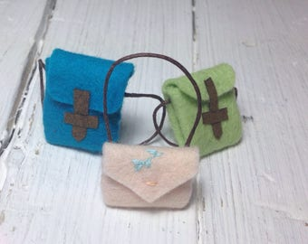 Felt miniature backpack felt miniature shoulder bag