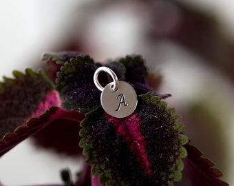 Initial Charm. 925s Personalized Initial Charm. Sterling Silver Initial Charm