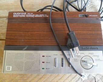 Duofone Phone Answering System Cassette Radio Shack