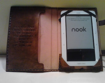 Genuine Leather Nook Kindle I-Pad  Tablet Cover