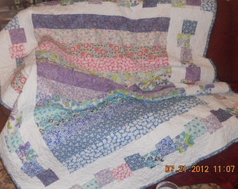 Beautiful hand made, made to order quilts. Perfect for cuddling under on a chilly night.  I can make one for you.  Any color you choose.