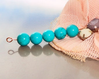 beads and round stone turquoise round bead 4 mm sinkiang turquoise bead