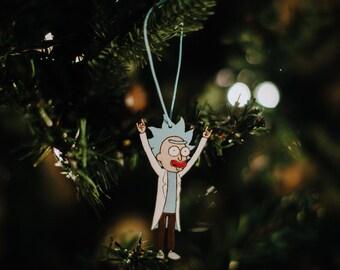 Tiny Rick Christmas Ornament | Tiny Rick Sanchez Holiday Decoration Gift