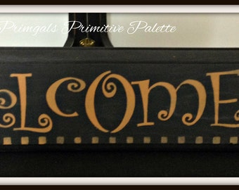 Wood Welcome Sign Plaque-Checkerboard