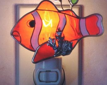 Funny fish night light