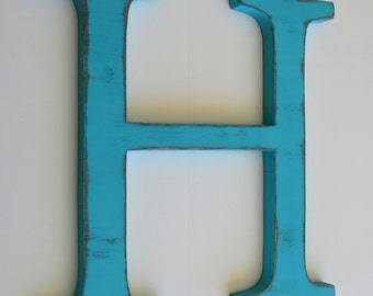 Wooden Letter H 12 inch Nursery Letter Wood Letter