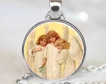 Three Little Angels Handmade  Necklace Pendant (PD0014)