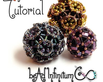 TUTORIAL Coxeter Bead Beaded with Half Tila and Bugle Beads