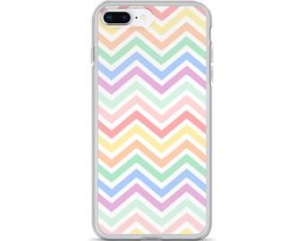 Pastel Rainbow Chevron iPhone Case, iPhone X Case, iPhone 8 Plus Case, iPhone 7 Plus Case, iPhone 7 Case, iPhone 6 6s Case, iPhone 8 Case