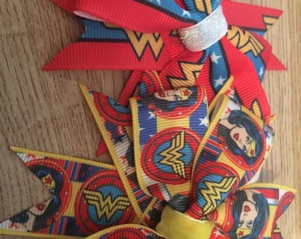Wonder Woman Themed Hair Clips