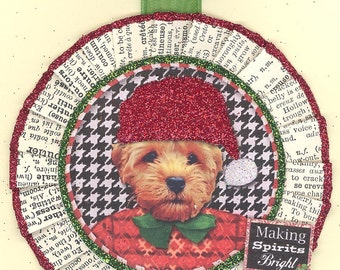 Labradoodle | Labradoodle Dog | Labradoodle Ornament | Christmas Ornament | Vintage Style