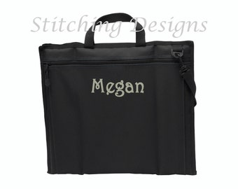 Stadium seat, Monogrammed chair, Football seat, Cheer mom seat, BLACK - Monogram or name on back