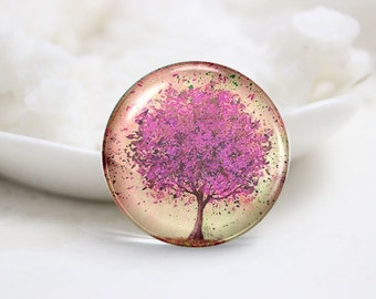 10mm 12mm 14mm 16mm 18mm 20mm 25mm 30mm Handmade Round Photo glass Cabochons Dome-Tree (P2333)