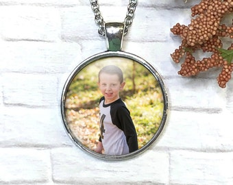 Custom Photo Necklace, Mother's Day Gift from Kids, Keepsake Jewelry, Photo Pendant, Photo Jewelry, Necklace with Photo, Personalized Gift