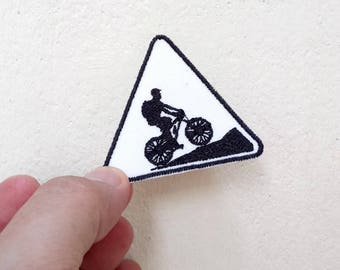 Bike Riding - Embroidery Iron on Patch