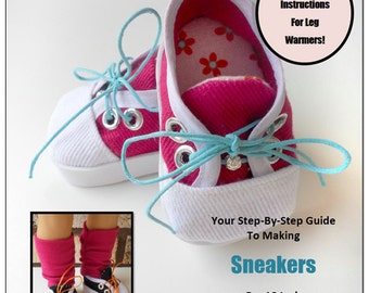 Pixie Faire Miche Designs Sneakers Shoe  Doll Clothes Pattern for 18 inch American Girl Dolls - PDF