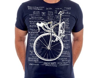 Cognitive Therapy Navy - Men's Cycling T Shirt Gift For Cyclists Man Gift